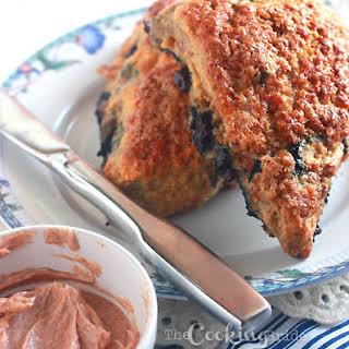 Cheddar Bacon Blueberry Scones.