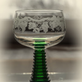 Cheers by Klaus Müller - Artistic Objects Glass ( wine glass, glass, contest, green,  )