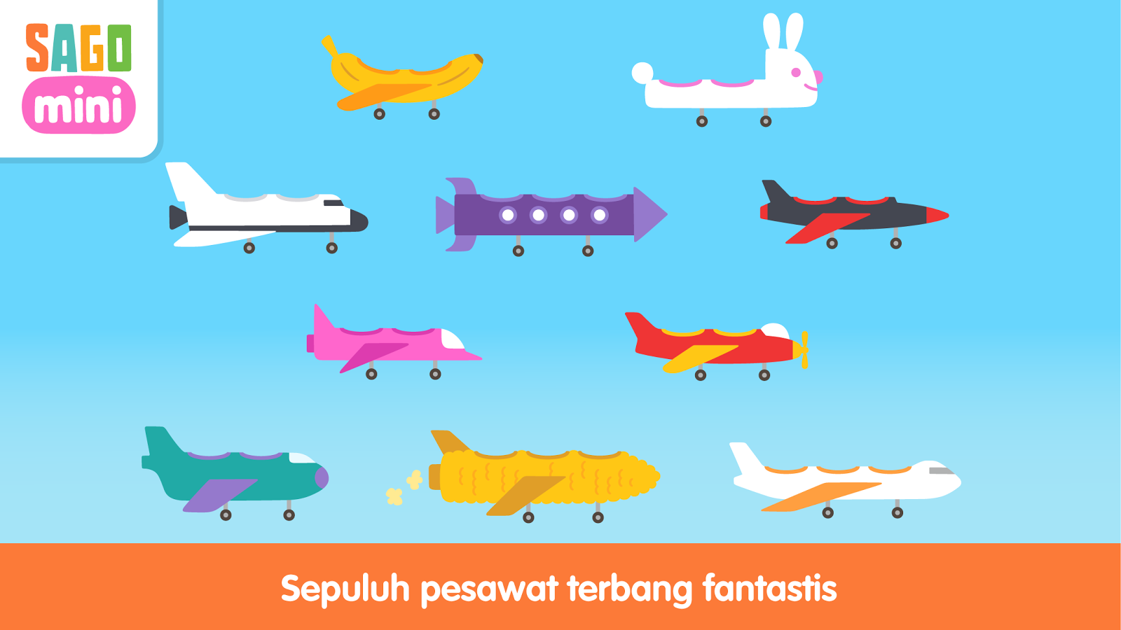 Pesawat Terbang Sago Mini Apl Android Di Google Play