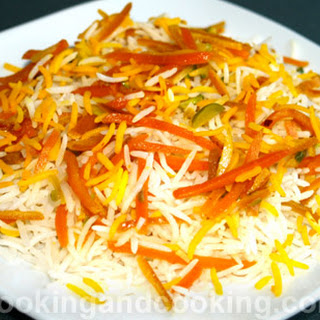 Shirin Polow, Persian Orange Rice