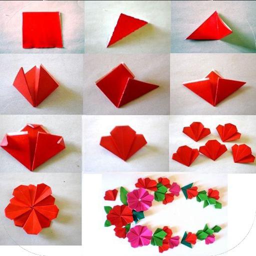 App insights origami flower tutorial apptopia origami flower tutorial mightylinksfo