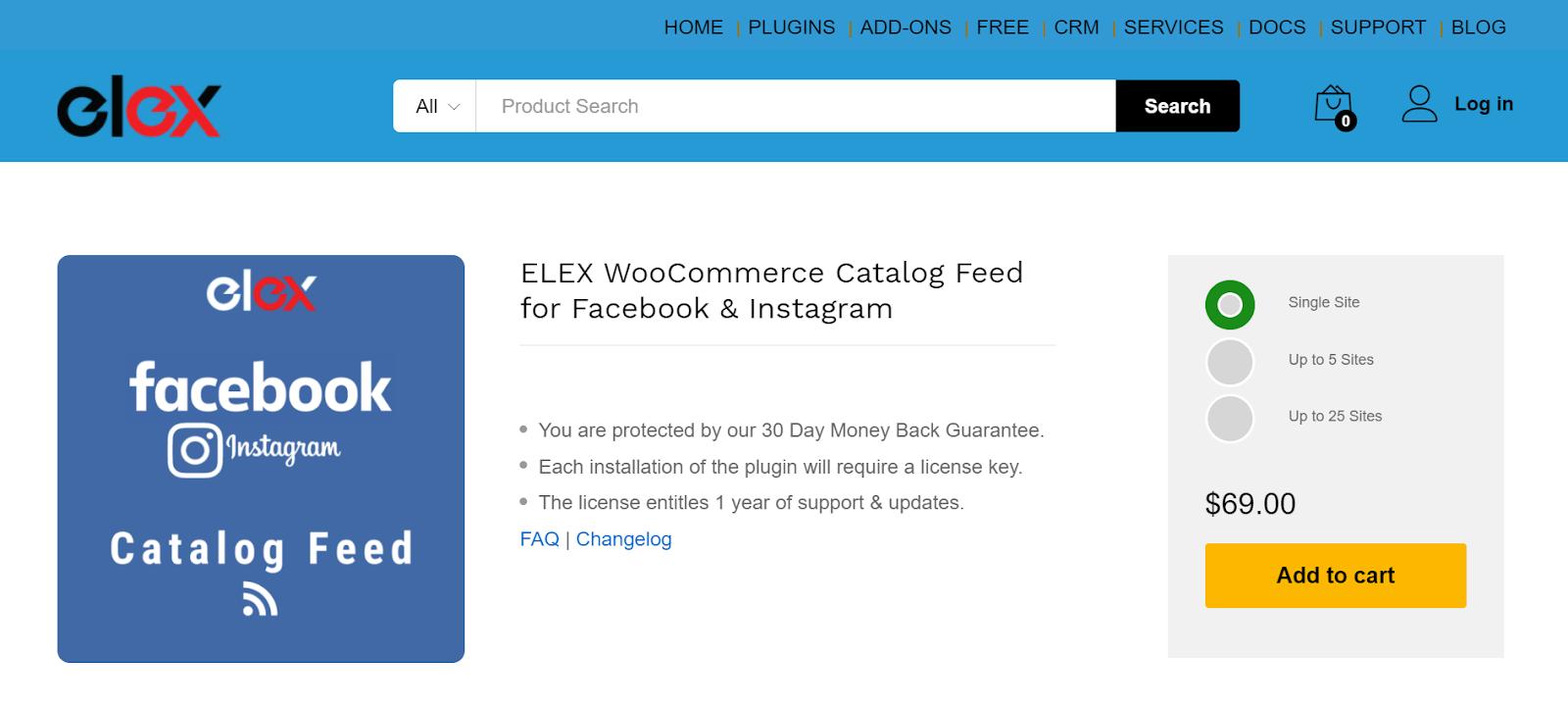 Best Instagram Plugins for WordPress | ELEX WooCommerce Catalog Feed for facebook and Instagram