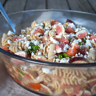 A Sweet and Savory, Einkorn Pasta Salad.