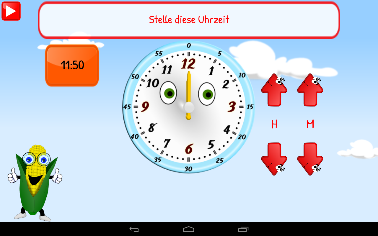 uhr f r kinder grundschule android apps auf google play. Black Bedroom Furniture Sets. Home Design Ideas
