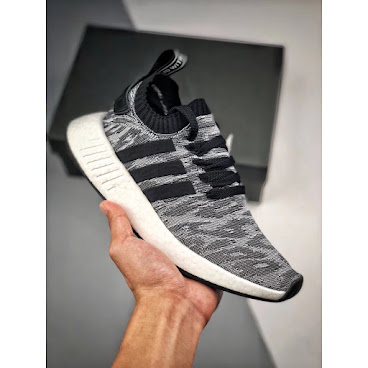 Adidas NMD R2 Primeknit (Black/Grey/Red)