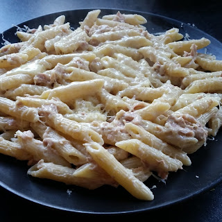 Cheesy Tuna Mayo Pasta