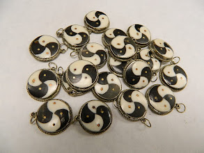 Photo: Vintage Tibetan Pendants at Objets D'Art - Double Yin=Yang !!!