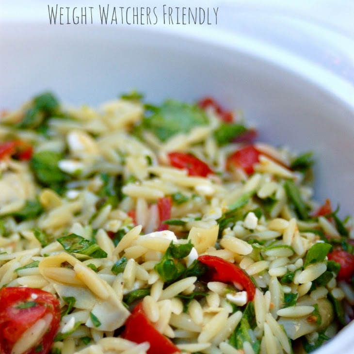 Weight Watchers Orzo Salad with Vegetables Recipe