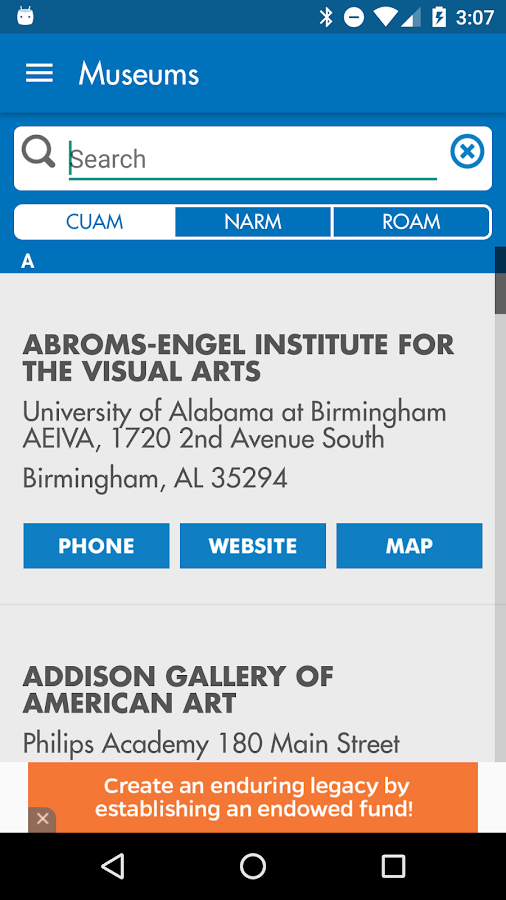 UF Harn Museum of Art- screenshot
