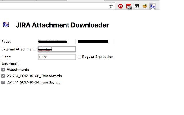 JIRA Attachment Download