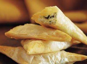 Mediterranean Philo Pockets With Spicy Apricot Dip Recipe