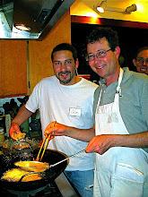 Photo: Jon and Marlon making pumpkin fritters