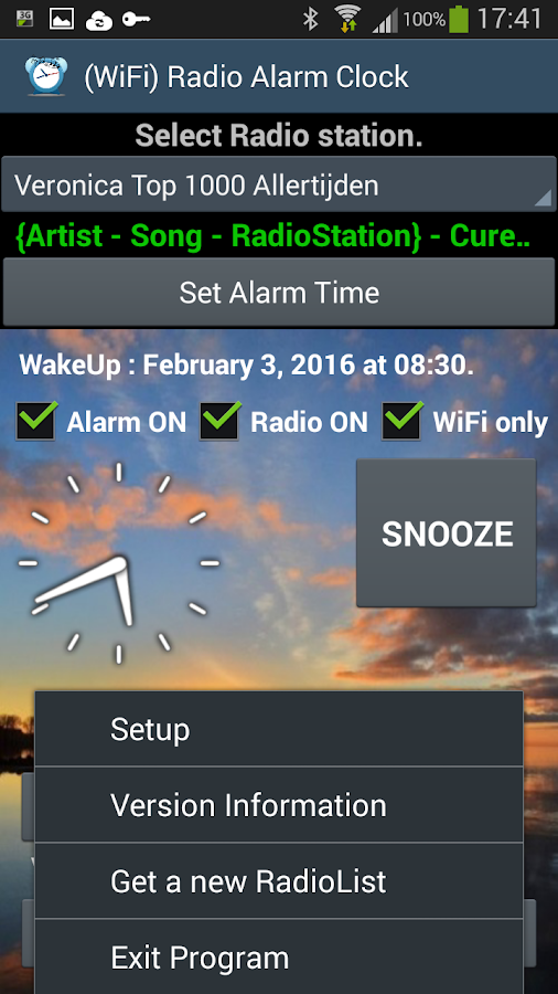 wifi radio alarm clock android apps on google play. Black Bedroom Furniture Sets. Home Design Ideas