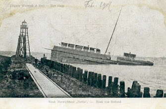 "Photo: ""Berlin"" wrecked at the pier of Hook of Holland 1907"