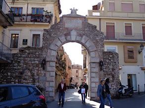 Photo: Taormina town Messina gate