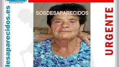 Cartel de SOS Desparecidos de alerta por la desaparición de Lucía García.