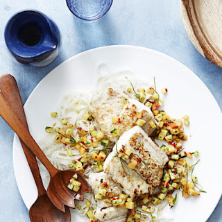 Pan Fried Fish with Pineapple and Papaya Salsa