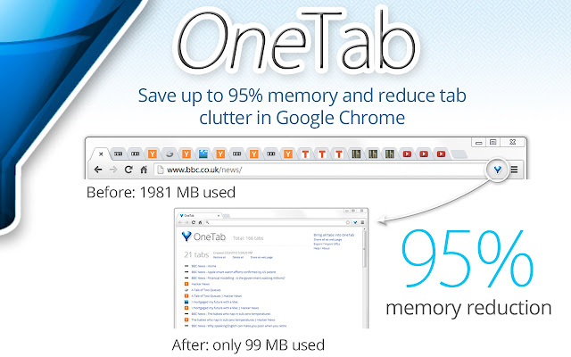 OneTab Chrome Extension