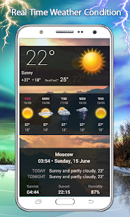 Live Weather: Clock and Widget