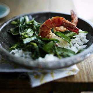 Stir-Fried Shrimp with Spinach.