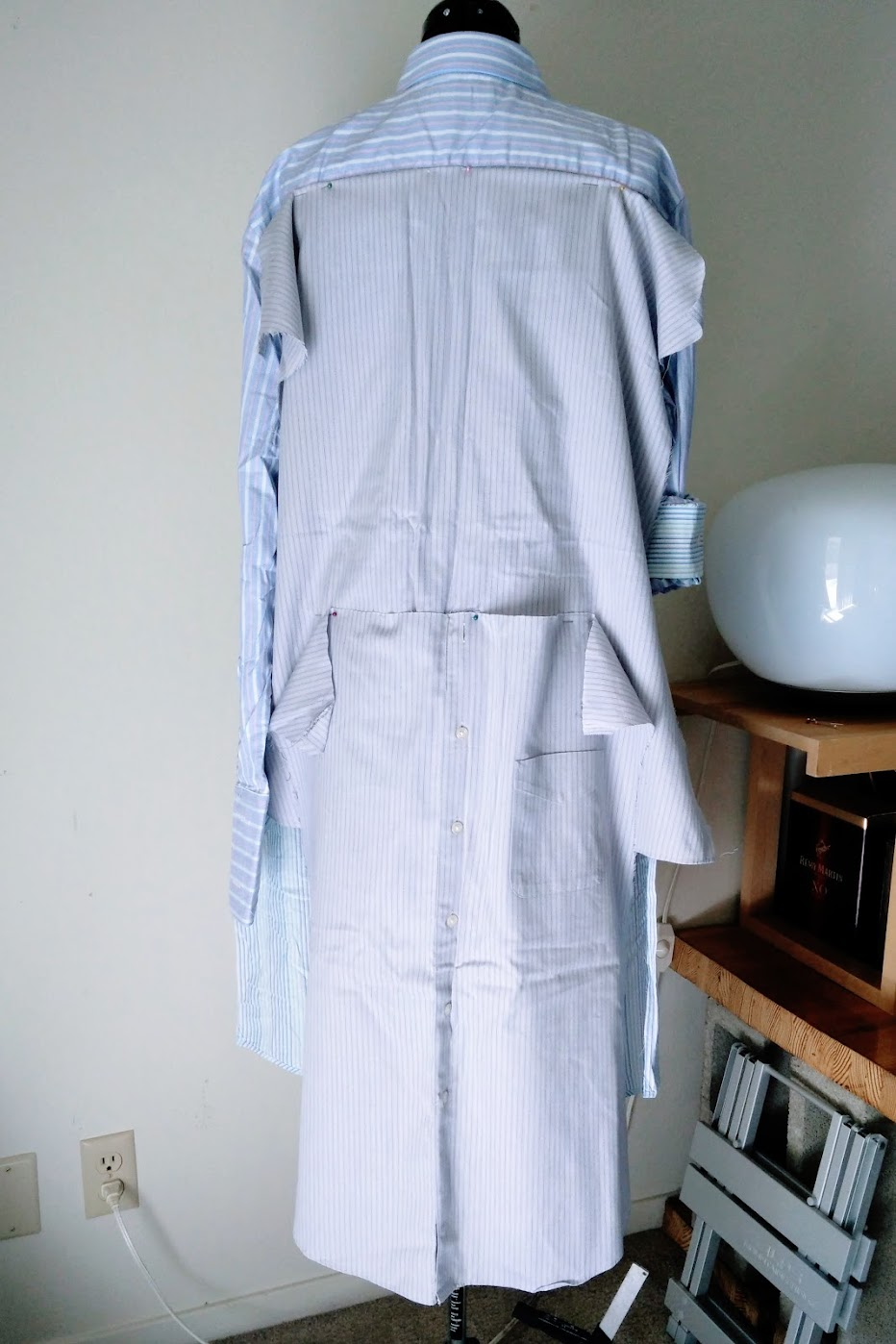 Preparations: DIY Shirt Dress with Bow Waist Tie - DIY Fashion Garments | fafafoom.com