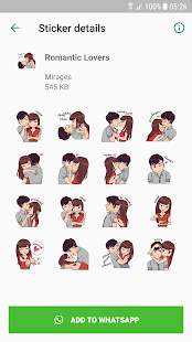 Love Story Stickers - WAStickerApps Screenshot