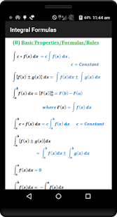 Calculus Quick Reference Free- screenshot thumbnail