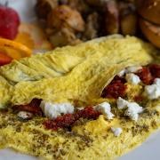Goat Cheese, Sun-Dried Tomato & Zaatar Omelette