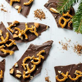Chocolate Almond Pretzel Bark.
