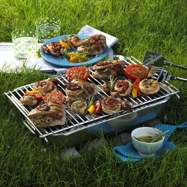Barbecued Kabobs and Pork Steaks Recipe