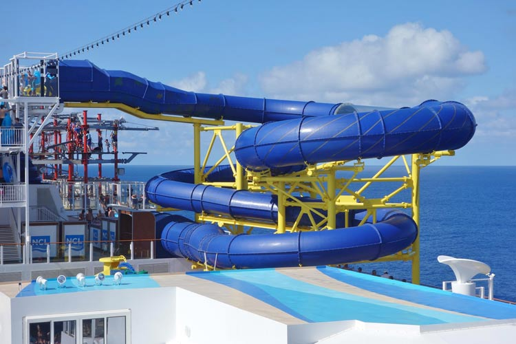 Hit the Aqua Racer on Norwegian Escape for a totally tube experience.