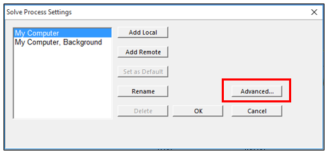 ANSYS Mechanical - Выберите Advanced (расширенные настройки)