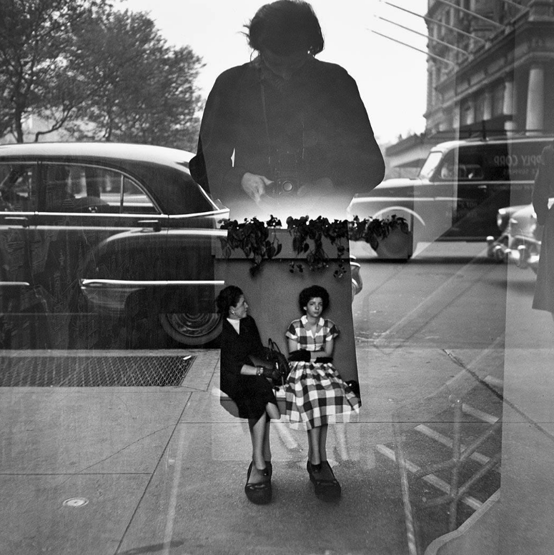 black and white triple exposed photo