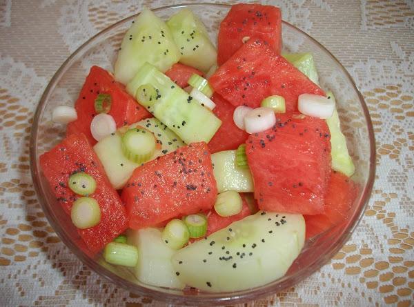 Watermelon And Seedless Cucumber Salad Recipe