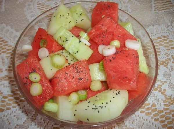 Watermelon And Seedless Cucumber Salad Recipe