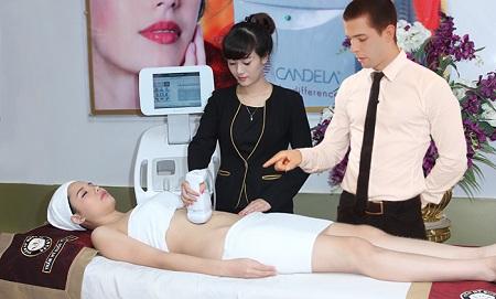 Điều trị giảm béo công nghệ Liposonix dưới sự hướng dẫn của chuyên gia.