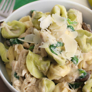 Slow-Cooker Chicken Alfredo Tortellini