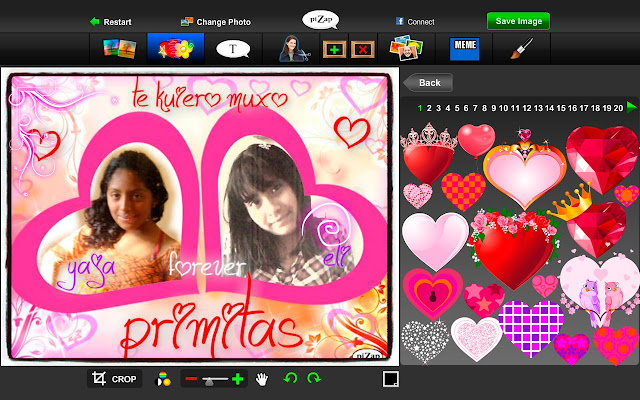 Pizap photo editor chrome web store reheart Image collections