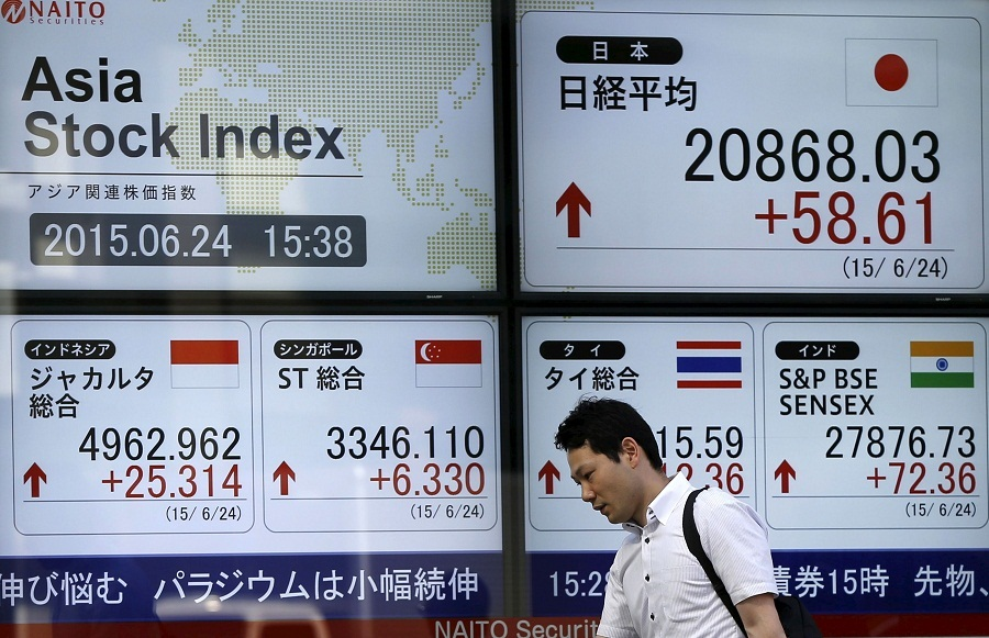 Asian shares lose ground on disappointing Chinese numbers