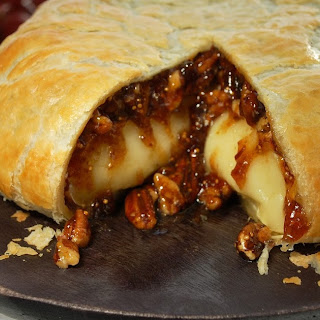 Baked Brie & Fig Spread in Puff Pastry.