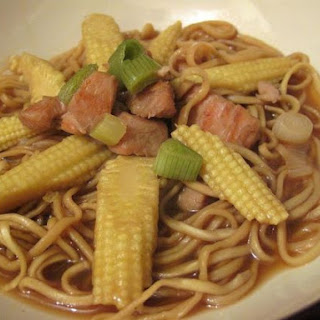 Turkey and Baby Corn Noodle Soup
