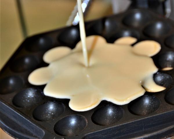 Receita de Bubble waffle original - Passo 3