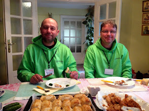 Photo: Hearty breakfast for the organisers - they worked really hard.