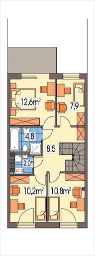 Katrina segment środkowy - Rzut piętra