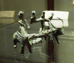 Photo: Yoken oxen in bronze and figure of a man from Gillan North-Iran, 1200-1000 BC