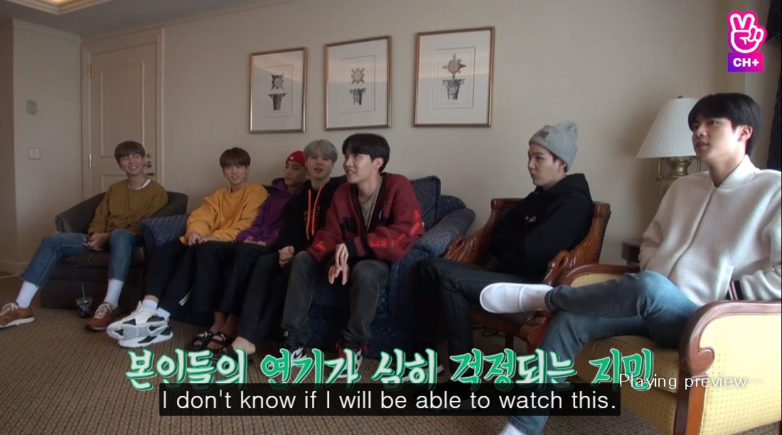 Jin's Reaction To His Own Acting Couldn't Be More Relateable