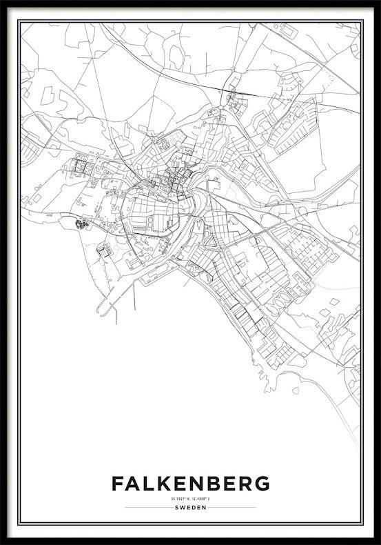 Karta Poster, Falkenberg