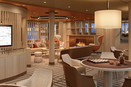 Hang out or socialize in the Observation Lounge aboard National Geographic Endurance.
