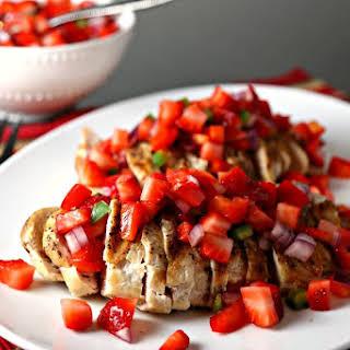 Grilled Chicken & Strawberry Salsa.