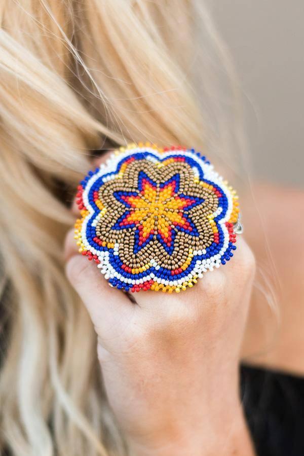 big multicoloured boho ring_image